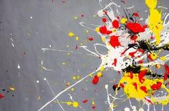 Mehrfarbige Farbfleck- Verunstaltung auf dem grauen Hintergrund lizenzfreie stockbilder