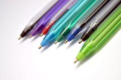 Mehrfarbige Federn lizenzfreies stockbild