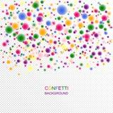 Mehrfarbige festliche Konfettis 3d mit einem undeutlichen Effekt Lizenzfreies Stockfoto