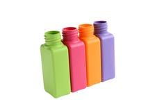 Mehrfarbige Flaschen lizenzfreie stockbilder