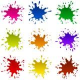 Mehrfarbige Flecken Stockfotos