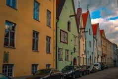 Mehrfarbige Gebäude in Estland Lizenzfreie Stockfotos