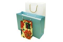 Mehrfarbige Geschenkpapierpakete Lizenzfreie Stockfotos