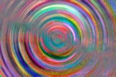 Mehrfarbige gewundene Kreise für den Hintergrund stock abbildung