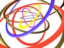 Mehrfarbige große Ringe Stockfoto