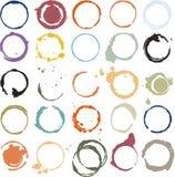 Mehrfarbige grungy Kreise Stockbild