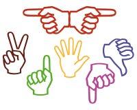 Mehrfarbige Hände Lizenzfreie Abbildung