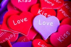 Mehrfarbige Herzen Stockfoto