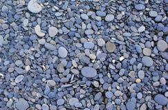 Mehrfarbige Kiesel und Steine Stockbild