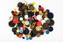 Mehrfarbige Knöpfe für Kleidung Stockbilder