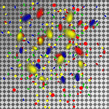 Mehrfarbige Konfettis und Ausläufer auf einem transparenten Hintergrund stock abbildung