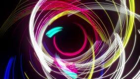 Mehrfarbige konzentrische abstrakte Linie Strudel-Schleife mit Alpha stock video