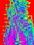 Mehrfarbige kreative Abstraktion für Fantasie Stockfoto
