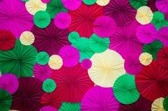 Mehrfarbige Kreise des Papiers Lizenzfreie Stockfotografie