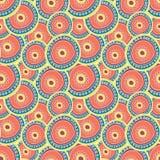 Mehrfarbige Kreise, die auf einander überlagern stock abbildung