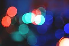 Mehrfarbige Kreise mit bokeh lizenzfreies stockfoto