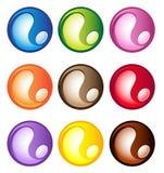 Mehrfarbige kugelförmige Tasten Stockfotografie