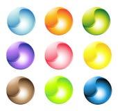 Mehrfarbige kugelförmige Tasten Stockfotos