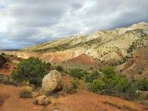 Mehrfarbige Landschaft des Dinosaurier-Nationaldenkmals Lizenzfreies Stockbild