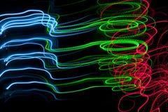 Mehrfarbige Leuchten Stockfotos