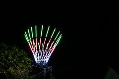 Mehrfarbige Lichter am Festival Stockfotos