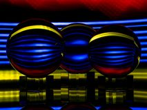 Mehrfarbige Lichter werden im Lensballs reflektiert lizenzfreie stockfotos
