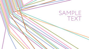 mehrfarbige Linien abstrakter Hintergrund Elektrischer Draht lizenzfreie abbildung