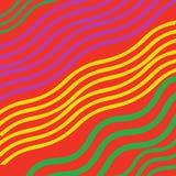 Mehrfarbige Linien in einem Muster lizenzfreie abbildung