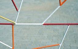Mehrfarbige Metallgeländer-geometrische Formen Lizenzfreies Stockbild