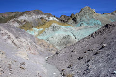 Mehrfarbige Mineralien Lizenzfreies Stockfoto