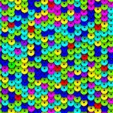 Mehrfarbige Paillette-nahtloses Muster lizenzfreie abbildung