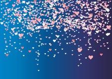 Mehrfarbige Paillette zacken in Form von Herzen lizenzfreie abbildung