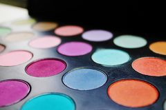 Mehrfarbige Palette des Lidschattens Lizenzfreie Stockfotografie