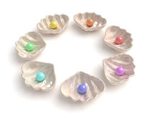 Mehrfarbige Perlen lizenzfreie abbildung