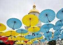 Mehrfarbige Regenschirme Lizenzfreie Stockfotografie