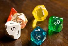 Rollen-Spielartwürfel Stockfoto