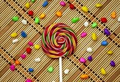 Mehrfarbige runde Süßigkeitssüßigkeit Lizenzfreies Stockfoto