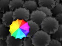 Mehrfarbige Schirmständer heraus Lizenzfreies Stockfoto