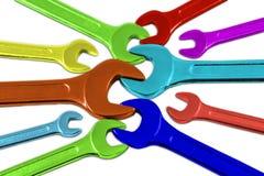Mehrfarbige Schlüssel Stockbilder
