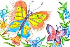 Mehrfarbige Schmetterlinge Stockbilder