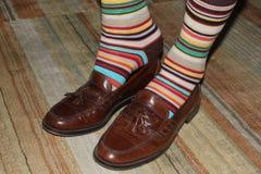 Mehrfarbige Socken Stockbilder