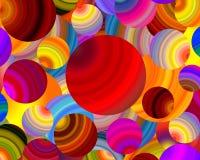 Mehrfarbige Spaßbälle Abstrakter Feiertagshintergrund stockfoto