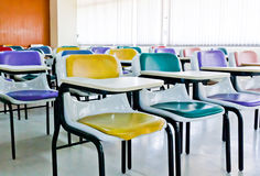 Mehrfarbige Stühle lizenzfreie stockbilder