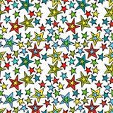 Mehrfarbige Sterne Nahtloser Vektormusterhintergrund lizenzfreie stockfotografie