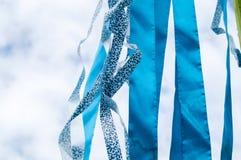 Mehrfarbige Streifen von Bändern Stockbilder