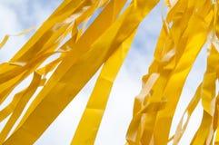 Mehrfarbige Streifen von Bändern Lizenzfreies Stockfoto