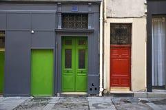 Mehrfarbige Tür Stockfotografie