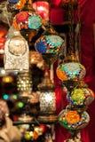 Mehrfarbige türkische Lampen Stockfoto
