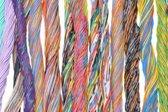 Mehrfarbige Telekommunikationskabel Lizenzfreie Stockfotos