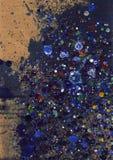 Mehrfarbige Tinte splats stockbilder